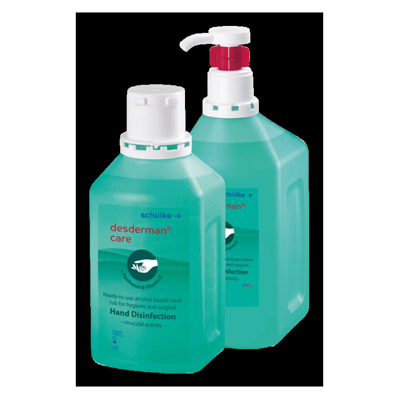 Händedesinfektionsmittel desderman® care 500 ml Euroflasche, 20 Stück