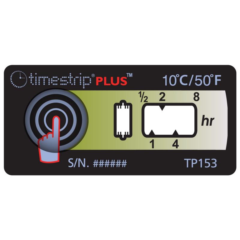 Temperaturindikator TimeStrip Plus 10°C, 100 Stück