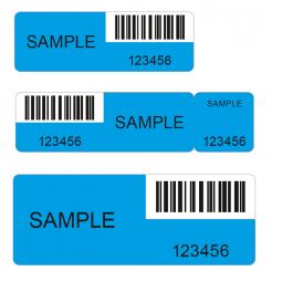 VOID Sicherheitsetiketten ohne Rückstand blau verschiedene Größen