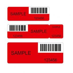 VOID-Sicherheitsetiketten mit Rückstand rot